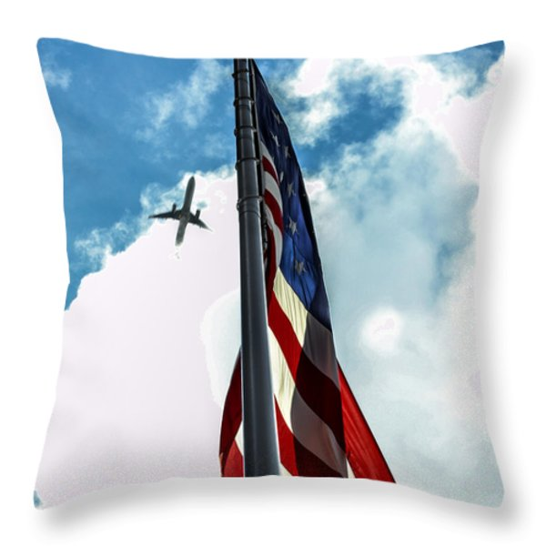 Tribute to the Day America Stood Still Throw Pillow by Rene Triay Photography