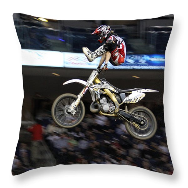 Trick Rider Throw Pillow by Karol  Livote