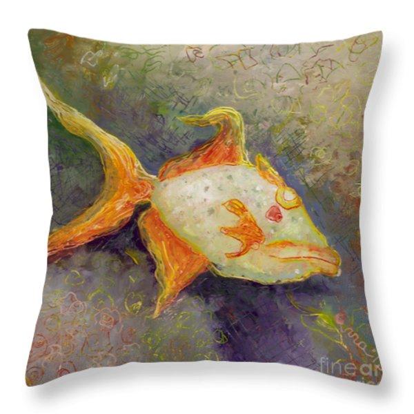 Triggerfish Throw Pillow by Anna Skaradzinska