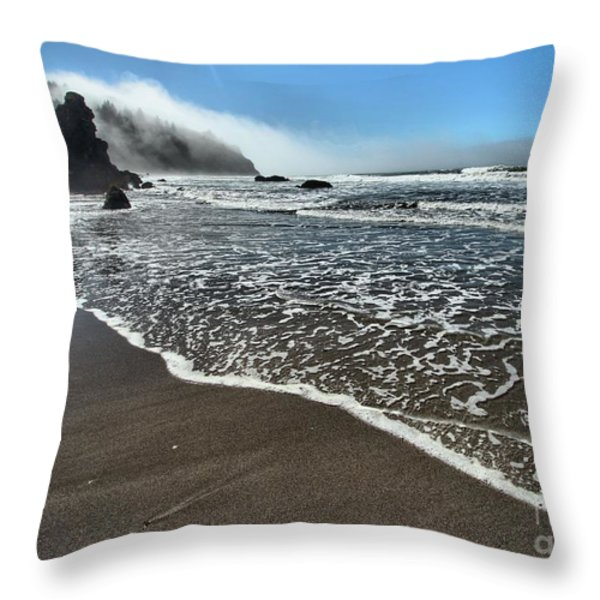 Trinidad Textures Throw Pillow by Adam Jewell