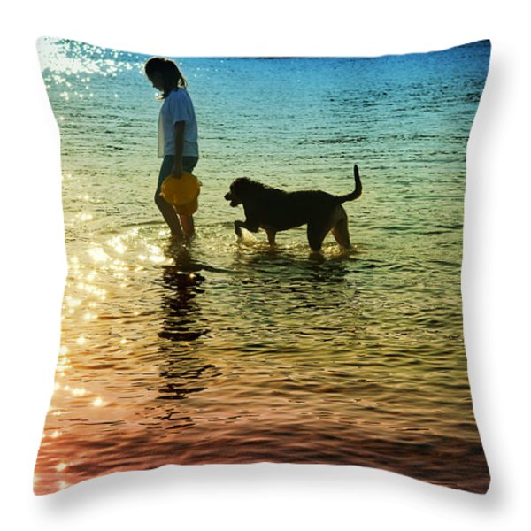 tripping the light fantastic Throw Pillow by Laura  Fasulo