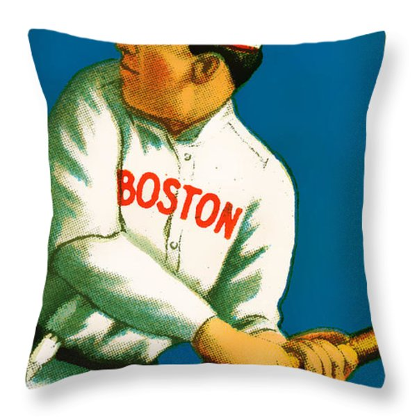 Tris Speaker Boston Red Sox Baseball Card 0520 Throw Pillow by Wingsdomain Art and Photography