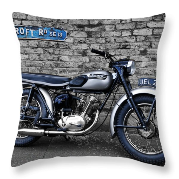 Triumph Tiger Cub Throw Pillow by Mark Rogan