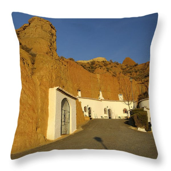 Troglodyte Caves Throw Pillow by Guido Montanes Castillo