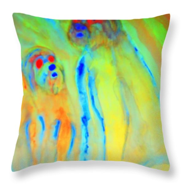Trolls Are Dangerous Throw Pillow by Hilde Widerberg