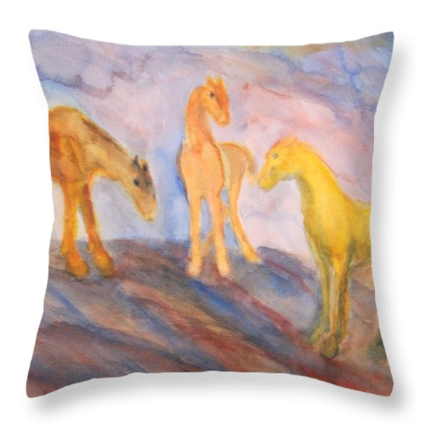 Remembering Us Throw Pillow by Hilde Widerberg