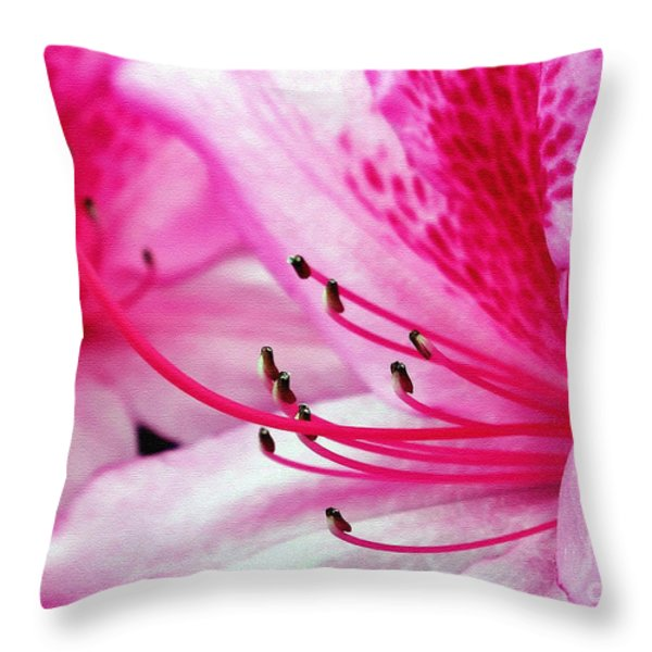 Tropical Azalea Throw Pillow by Kaye Menner