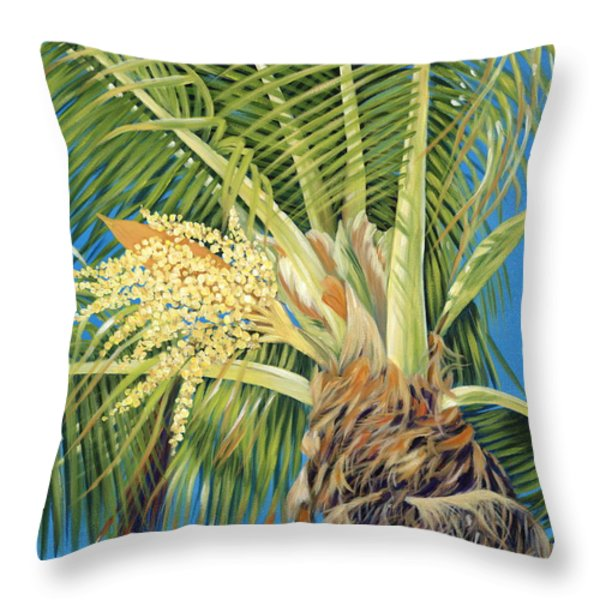 Tropical Bloom Throw Pillow by Danielle  Perry