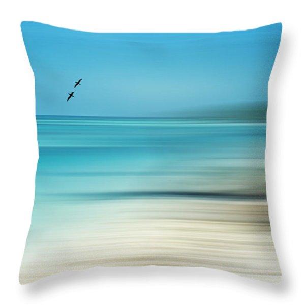 Tropical Cove Horizon Throw Pillow by Deborah Smith