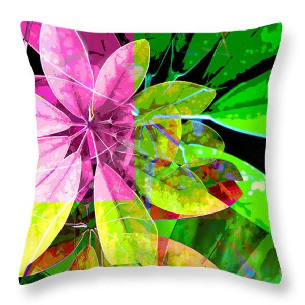Tropical Delight Two Throw Pillow by Ann Powell