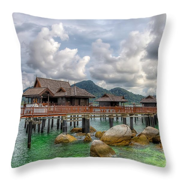 Tropical Home Throw Pillow by Adrian Evans