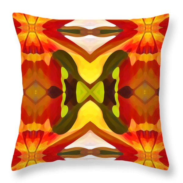 Tropical Leaf Pattern  11 Throw Pillow by Amy Vangsgard