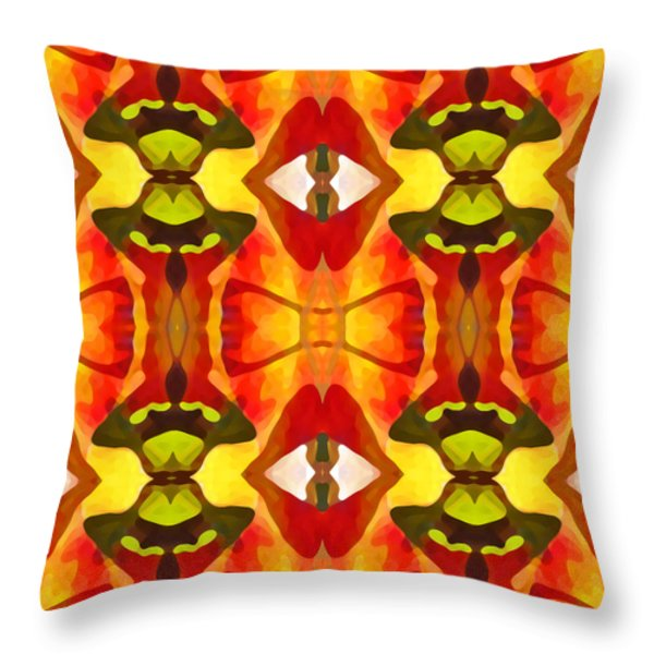 Tropical Leaf Pattern 7 Throw Pillow by Amy Vangsgard
