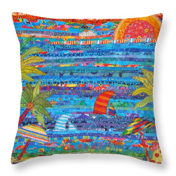 Tropical Moments Throw Pillow by Susan Rienzo