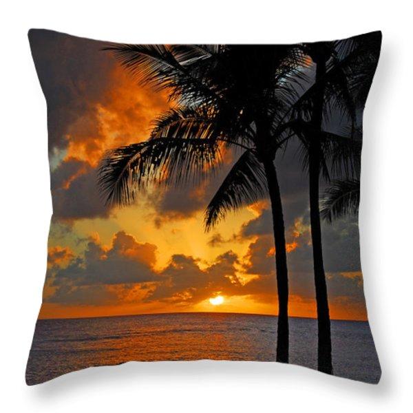 Tropical Nights  Throw Pillow by Lynn Bauer