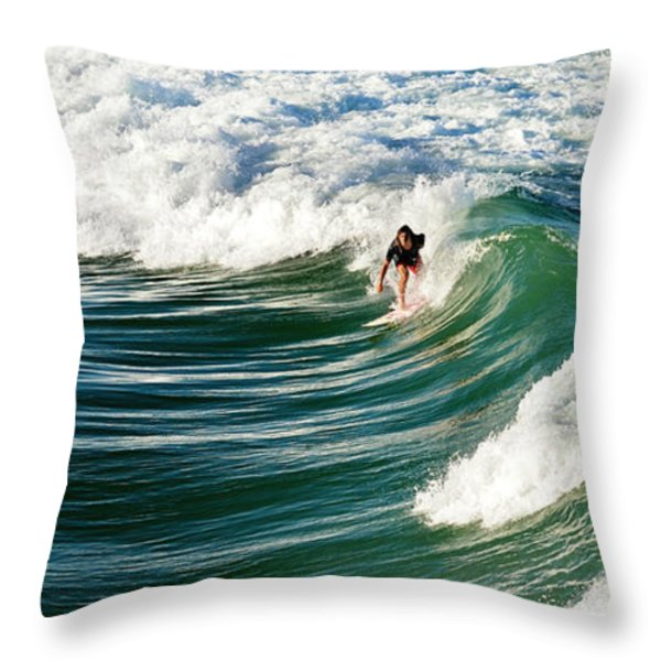 tropical wave Throw Pillow by Laura  Fasulo
