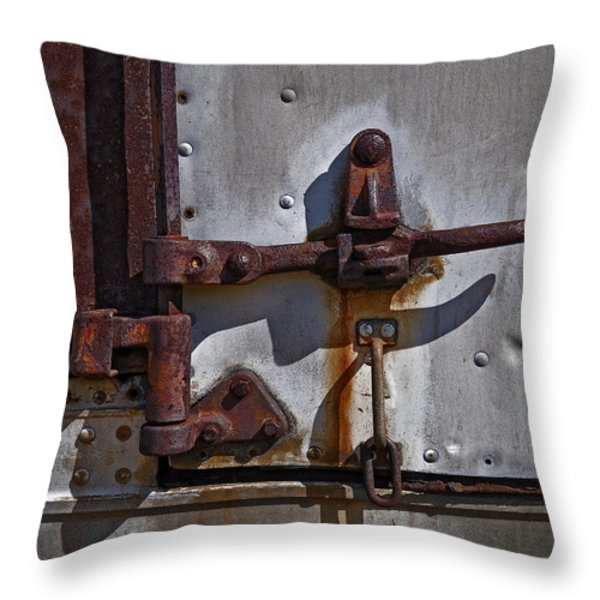 Truck Handle Throw Pillow by Murray Bloom