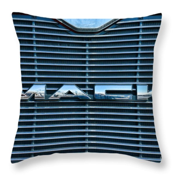 Truck - The Mack Grill Throw Pillow by Paul Ward