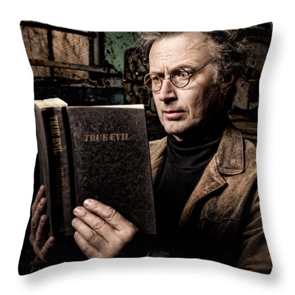 True Evil - Science Fiction - Horror Throw Pillow by Gary Heller