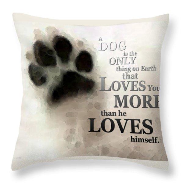 True Love - By Sharon Cummings Words By Billings Throw Pillow by Sharon Cummings