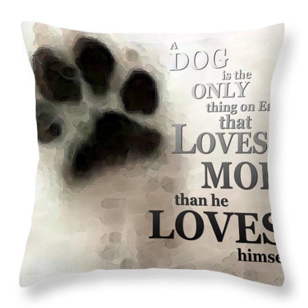 True Love - By Sharon Cummings Words by Billings Throw Pillow by Sharon Cummings