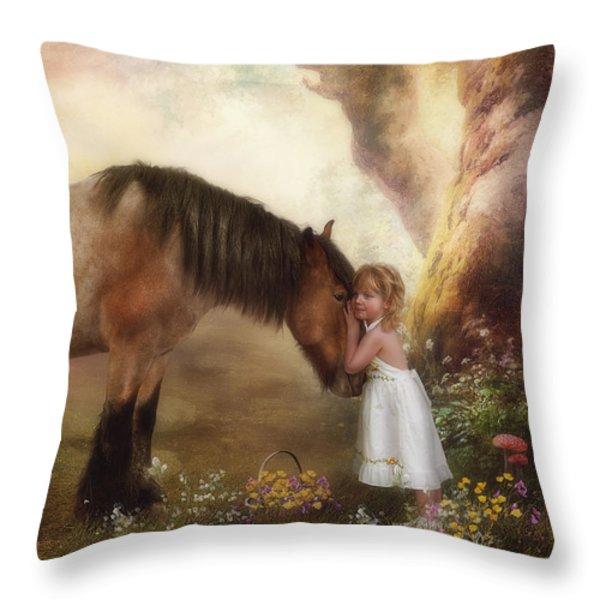 True Love Throw Pillow by Cindy Grundsten