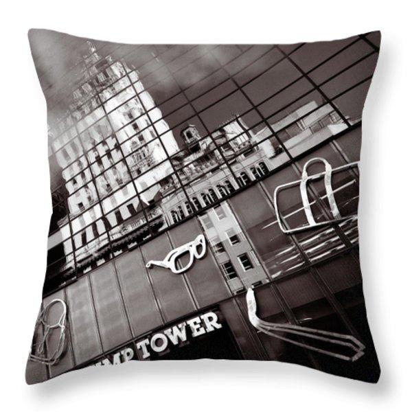 Trump Tower Throw Pillow by Dave Bowman