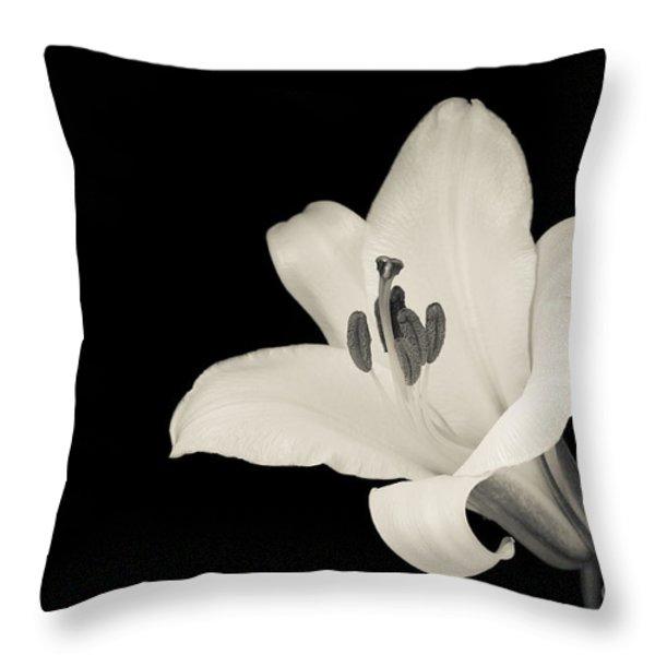 Trumpet Lily Throw Pillow by Oscar Gutierrez