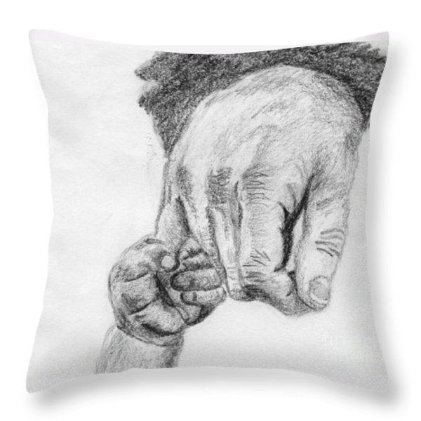 Trust Throw Pillow by Annemeet Van der Leij