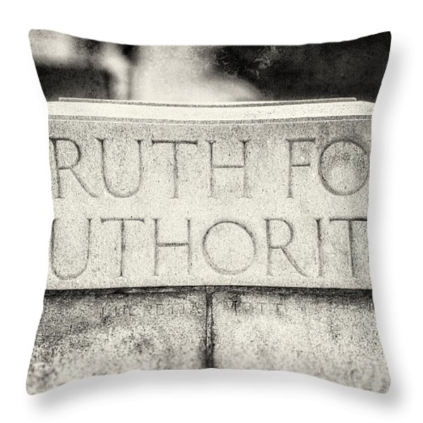 Truth for Authority Lucretia Mott  Throw Pillow by Lisa Russo