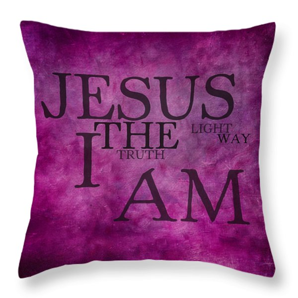 Truth Light Way 2 Throw Pillow by Angelina Vick