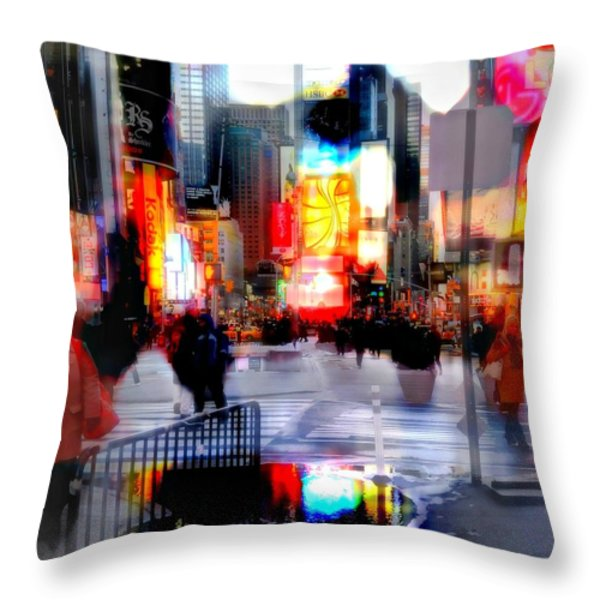 TSquare Water Colors Throw Pillow by Diana Angstadt