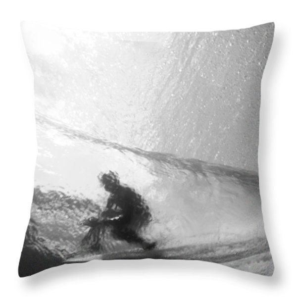 Tube Time Throw Pillow by Sean Davey