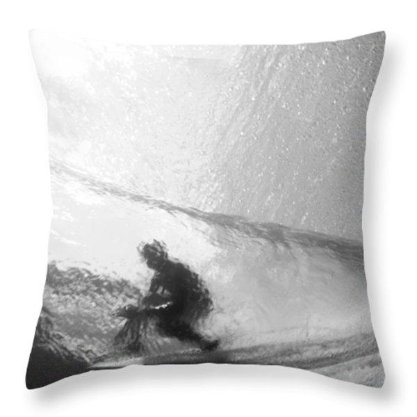 Tube Time Throw Pillow by Sean Davey