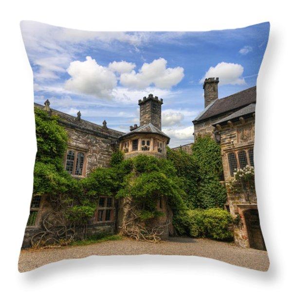 Tudor Castle Throw Pillow by Ian Mitchell