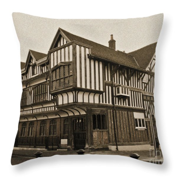 Tudor House Southampton Throw Pillow by Terri  Waters