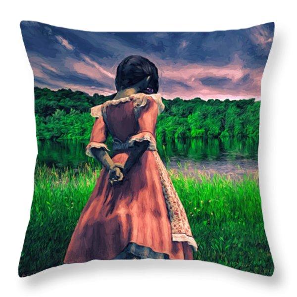 Tuesdays Child Throw Pillow by Bob Orsillo