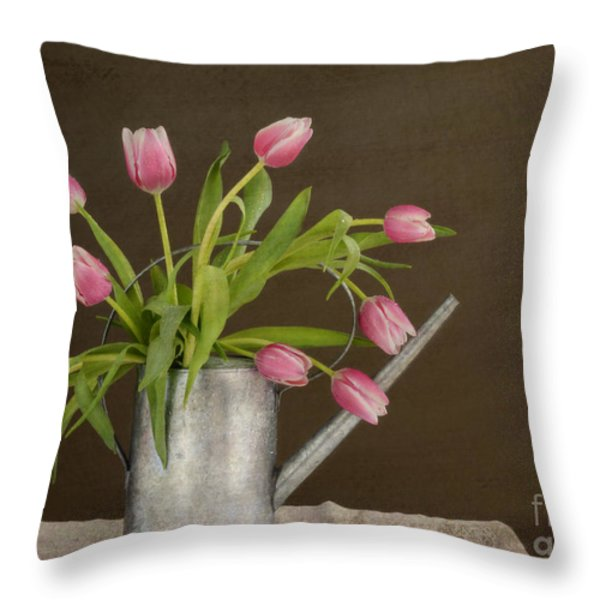 Tulip Bouquet  Throw Pillow by Alana Ranney