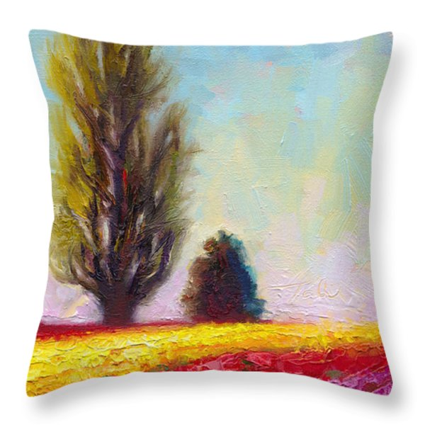 Tulip Sentinels Throw Pillow by Talya Johnson