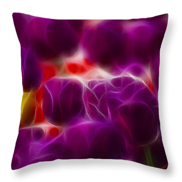 Tulips-6999-fractal Throw Pillow by Gary Gingrich Galleries