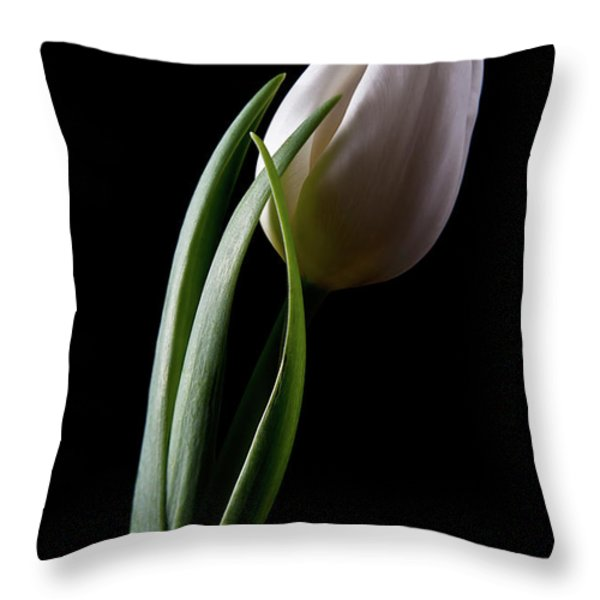 Tulips III Throw Pillow by Tom Mc Nemar