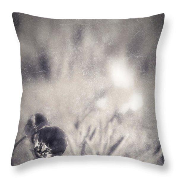 Tulips Throw Pillow by Silvia Ganora