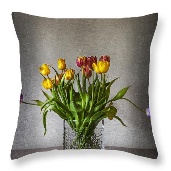 Tulips Throw Pillow by Svetlana Sewell