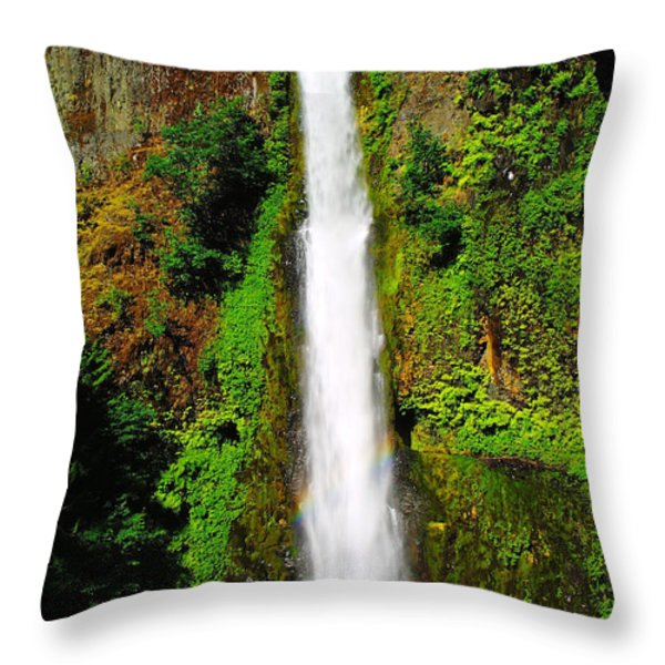 Tunnel Falls Throw Pillow by Jeff  Swan