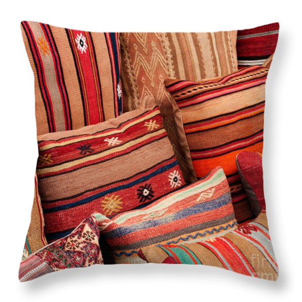 Turkish Cushions 02 Throw Pillow by Rick Piper Photography