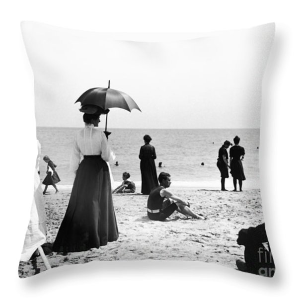 Turn of the Century Palm Beach Throw Pillow by LOC Science Source