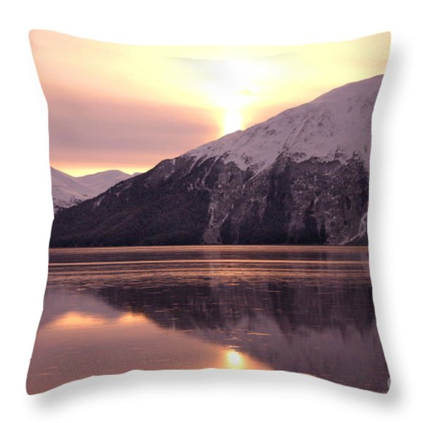 Turnagain Arm Morning Throw Pillow by Crystal Magee
