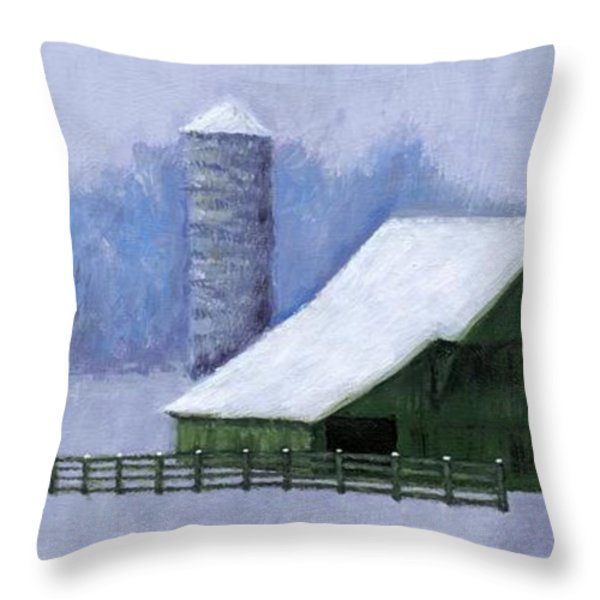 Turner Barn in Brentwood Throw Pillow by Janet King