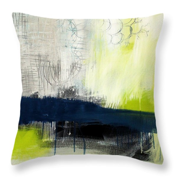 Turning Point - contemporary abstract painting Throw Pillow by Linda Woods