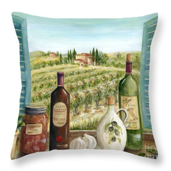 Tuscan Delights Throw Pillow by Marilyn Dunlap